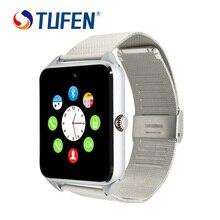 GT08 Más El Notificador de Sincronización de Reloj Reloj inteligente Tarjeta de la Ayuda Sim Conectividad Bluetooth Teléfono Android Smartwatch Smartwatch de Aleación