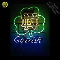 Спортивных команд Университет ND GoIrish неоновая вывеска бренд остекленная трубки магазин свет знак Дисплей Дизайн знаковых знак паб бар знак