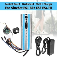 Electric Scooter Activated Bluetooth Dashboard Control Board Motherboard Controller & Charger for Ninebot Es1 Es2 Es3 Es4,Eu P