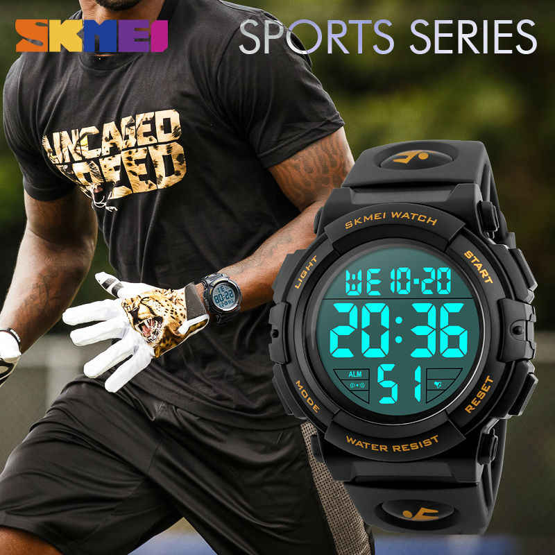 a0940f83a ... SKMEI 2107 New Sports Watches Men Chronograph Big Dial LED Fashion Digital  Watch Mens Waterproof Military