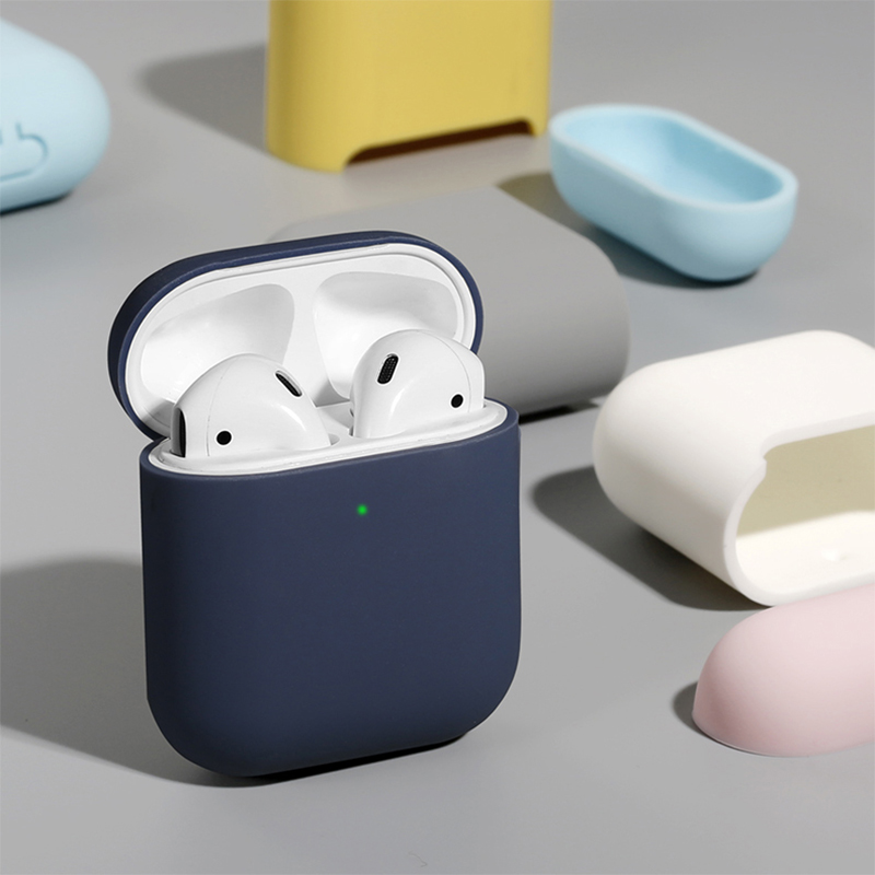 Ultra Thin TPU Bluetooth Wireless Earphone Protective Case For Airpods 2 Multi Candy Color Headphone Bag For Airpods 2 Accessory