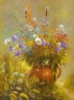 Ham çömlek Poster çerçevesiz Vahşi çiçekler Petrol Tuval Boyama Baskılı Özel ve Dropshipping