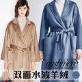 32840215301 - Tejido de cachemira de 16 colores, abrigo grueso de otoño e invierno, tela de Cachemira de doble cara, tela suave de lana, tela de Cachemira
