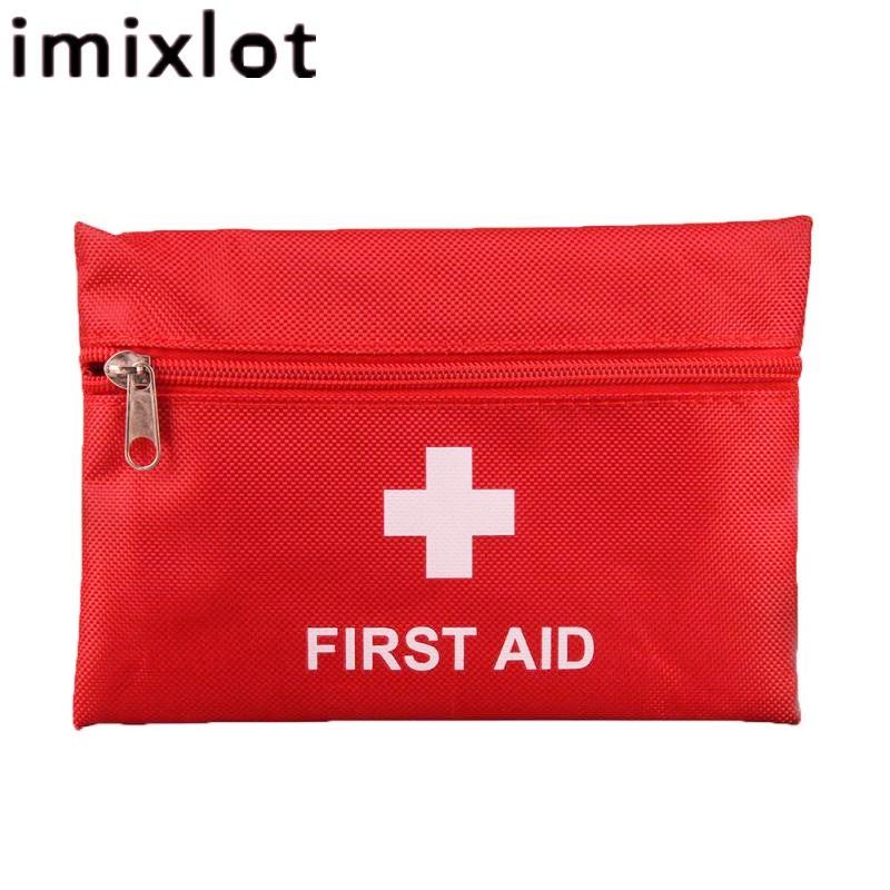 Imixlot Mini Outdoor Camping Hiking Survival Travel Professional Emergency First Aid Kit Durable Bag Rescue Medical Supplies