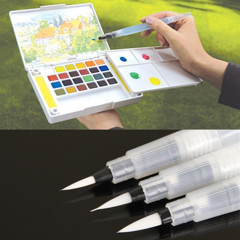 Nachfüllbar 1 Stück Wasser Pinsel Tinte Stift Für Wasser Farbe Kalligraphie Malerei...