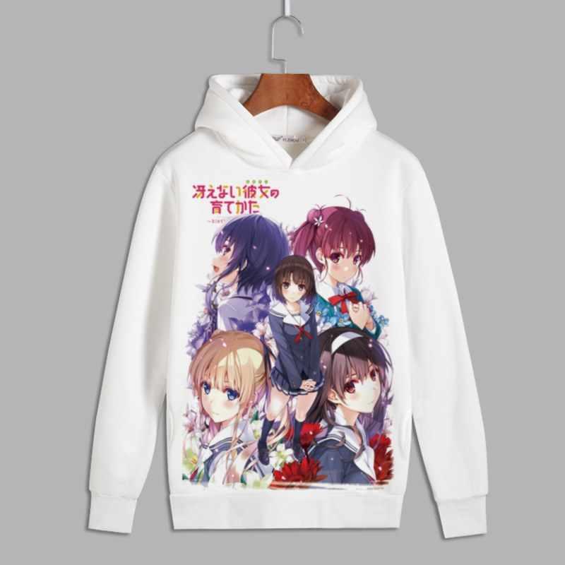 Saekano Косплей кату Мегуми пуловер с принтом толстовки с капюшоном Аки томойя для мужчин и женщин унисекс флисовая толстовка на осень