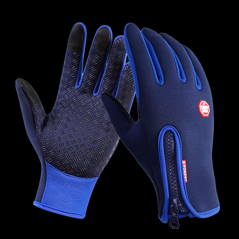 Blue Black Womdee Waterproof Electric Warming Gloves Insulated Hand Warmers Slip-Proof for Motorcycles with a Voltage of 12V Heated Gloves
