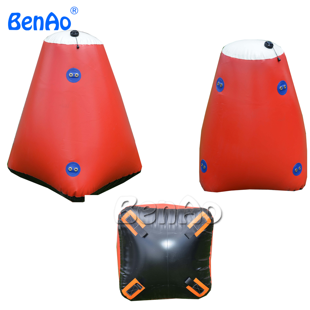 W180 Swimming event inflatable triangle buoys floating on water, inflatable safety buoys, Inflatable Floating buoys for sale 71 x 188cm inflatable floating row seat floating bed surfboard water bed swimming air mattresses water sports free shipping