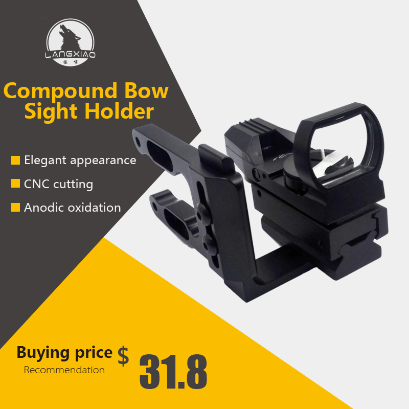 LX Archery CNC Machined Bow Sight Mount Red Dot Sight Holographic Aim Suit For Mathews Bowtech Bear All Compund Bow