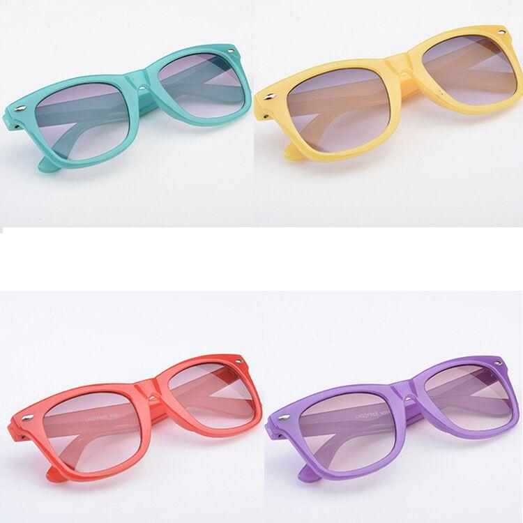 ᗚNiños Gafas de sol fresco niño niños Niños Niñas plástico Marcos ...