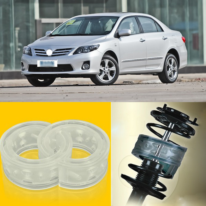 Teeze 2pcs Power Front /Rear Shock Suspension Cushion Buffer Spring Bumper For Toyota Corolla