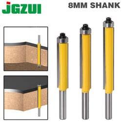 """1 шт. 8 мм хвостовик 2 """"для промывания и подравнивания фрезы с подшипником для дерева шаблон бит карбида вольфрама фрезерный резак для дерева"""
