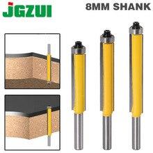 """1 pc 8mm Shank 2 """"Floş Trim Router Bit için Rulman ile Ahşap Şablon Desen Bit Tungsten Karbür freze ahşap için kesici 02017"""