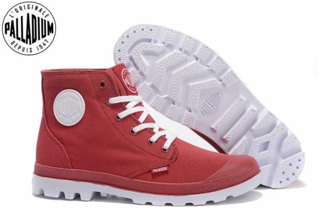 PALLADIUM Pampa Klasik anggur Merah Pergelangan Kaki Renda Kanvas Pria  Sepatu Kasual Pria Sneakers Ukuran 39 28f7a846fd