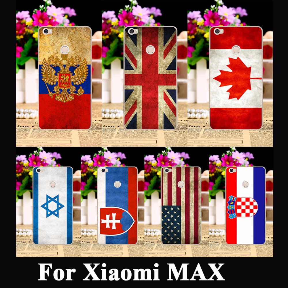 Retro National Flag Cell Phone Shell Hood For Xiaomi MAX Case Mi Max Cases Cover Skin Housing Bag Russia UK Brazil Shield Capa