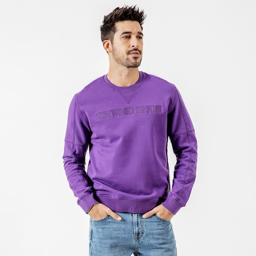 SIMWOOD Autumn New Hoodies Men Embroidery Letter Sweatshirt Male O-neck High Quality Brand Clothing 190121