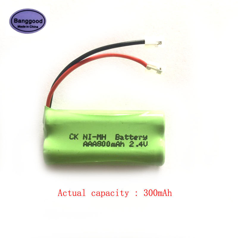 Universal Small 2.4V 300mAh 3x AAA Desk Table Cordless Phone Rechargeable NIMH Battery Pack