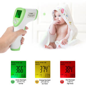 Digital Temperature-Instruments Termostato Body-Surface Non-Contact Forehead IR Data-Hold-Func