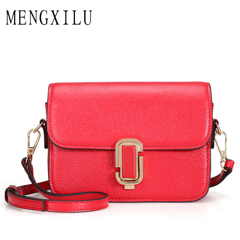 MENGXILU Brand High Quality Women Shoulder Bag Designer Genuine Leather Crossbody Bags Small Flap Women Handbags New Ladies Bag soar shell bag crossbody bags women messenger bags designer handbags high quality small leather shoulder bag brand famous 5