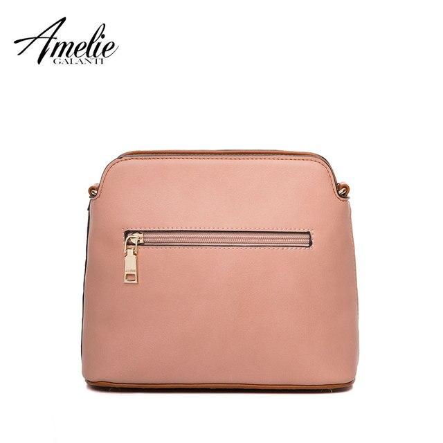 AMELIE GALANTI Women's leather fashion small bag female chain shoulder long strap Patchwork Classic pattern Shoulder Bags