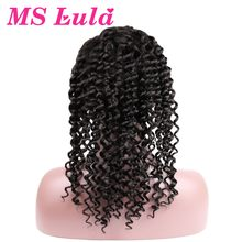 MS Lula Pre Plucked Deep Wave Lace Front Wigs Medium Size With Baby Hair For Black Women Remy Brazilian Human Hair