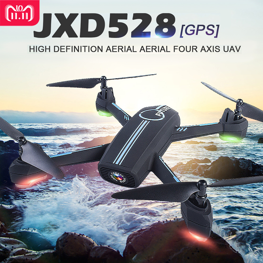 JXD528 GPS RC Drone WIFI FPV RC Quadcopter With 720P HD Camera Follow Me Mode Auto Return APP Control Helicopter Dron VS JXD518 цены