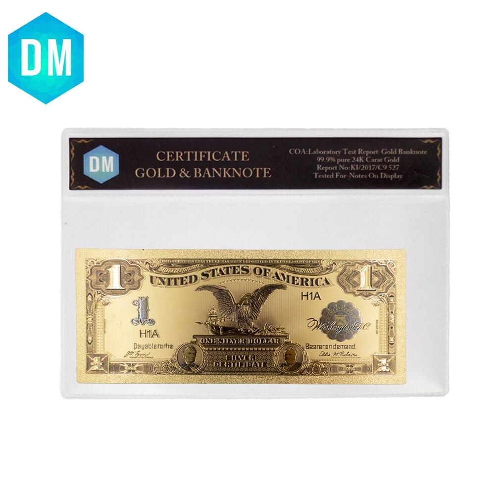 1899 Year Us 1 Dollar Gold Banknote Bill 24k Foil Usd New Banknotes 10pcs//set