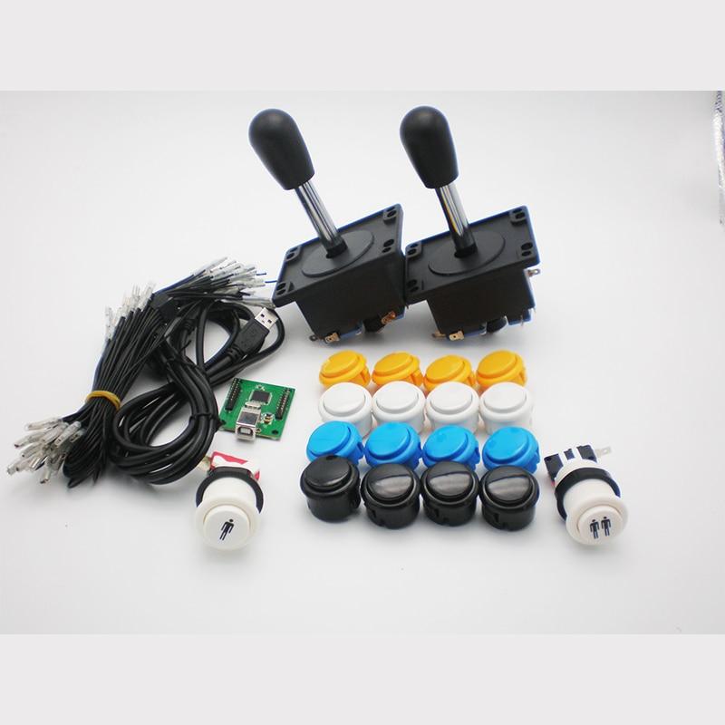 Arcade DIY bagian kit dengan pemain ganda USB PC Enocder 18 pcs Push Button 2 pcs spanyol Joystick Untuk Arcade MAME JAMMA Game