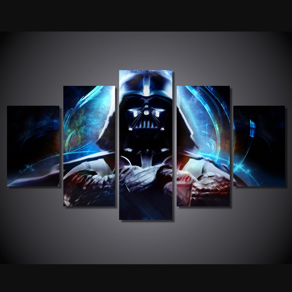Aliexpress Buy HD Printed Star Wars 5 Piece Picture Painting Wall Art Canvas Print Room Decor Poster Free Shipping F 785 From Reliable