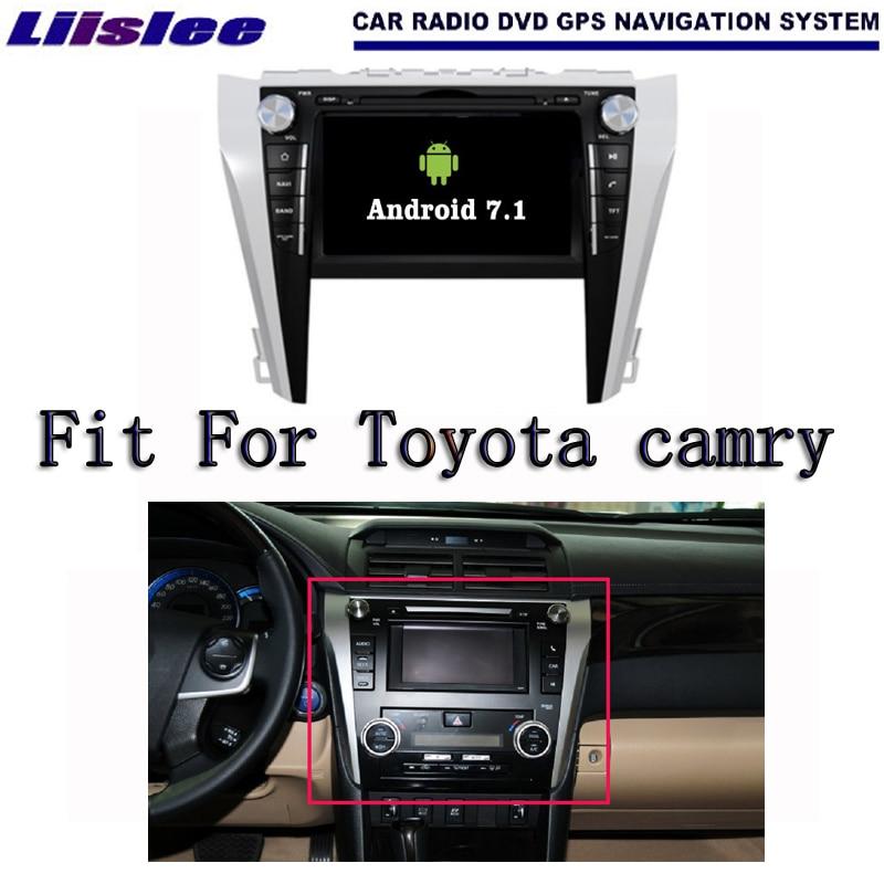 Liislee Android 7.1 2 г Оперативная память для Toyota Camry 2015 ~ 2017 Радио Аудио Видео Мультимедиа dvd-плеер WI-FI DVR GPS Navi навигации