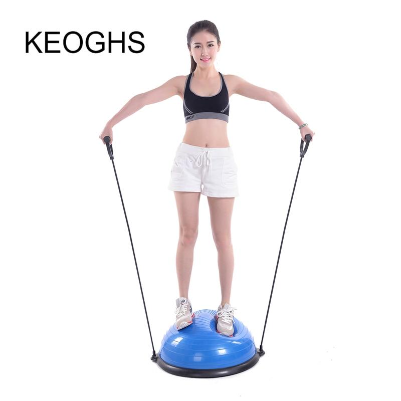 2018 new model High quality yoga ball body balance half ball fitness BOSU ball exercise gym