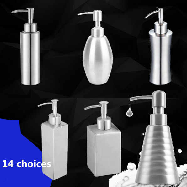 Bathroom Accessories Sus304 Stainless Steel Liquid Soap Dispensers Brush Silver Bathroom Hardware Stand Liquid Soap Dispensers стоимость