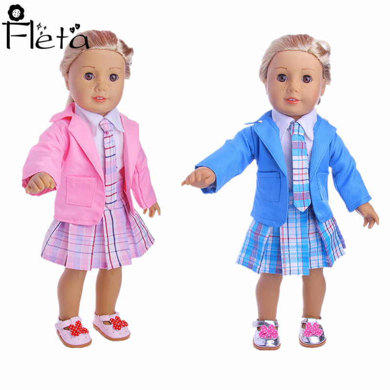 2019 Hot Sale Doll Set American Female Doll Student Set  Suitable For 18-Inch American Doll Our Generation Girl`s Toy Doll Acces