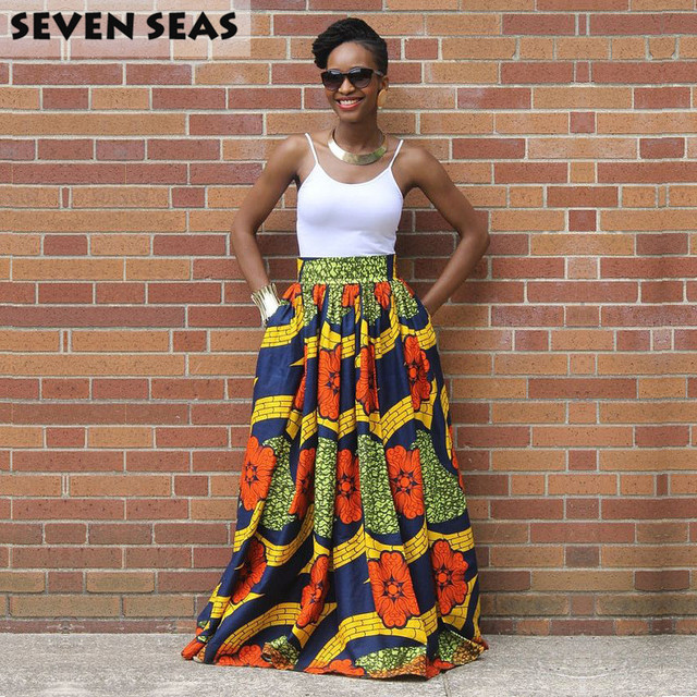 African Print High Waist Maxi Skirts Aliexpress.com : Buy E...