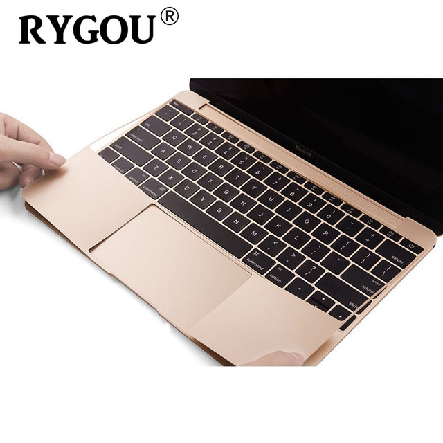 new style f4b9c 0c435 US $9.49 5% OFF|RYGOU Wristest Full Guard Skin cover with Trackpad  Protector for New Macbook 12 Inch A1534 with Retina Display Golden color  film-in ...