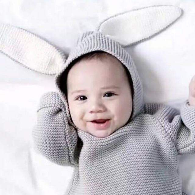 1-5Y Mùa Thu Mới Bé Trai Áo Len 3D Thỏ Trẻ Em Bông Áo Len Cô Gái Dệt Kim Áo Len cho Cô Gái Chàng Trai Vest