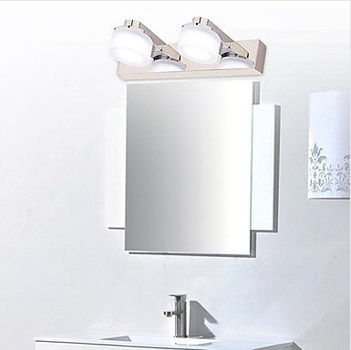 2 Lights Modern LED Wall Bathroom Mirror Light, For Home Lighting Wall Sconce,AC Bulb Included 90V~260V zinuo modern led mirror light 6w 12w waterproof 33cm 53cm for bathroom wall sconce lamp apliques de pared luz ac 90v 260v