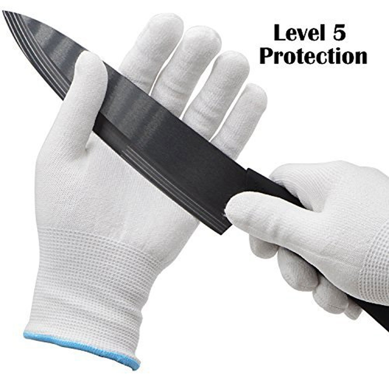 5 Level HPPE Anti-cutting Gloves Slaughter Wood Working Glass Handling Cutting Safety Gloves Wear-resistant Anti-acid And Alkali
