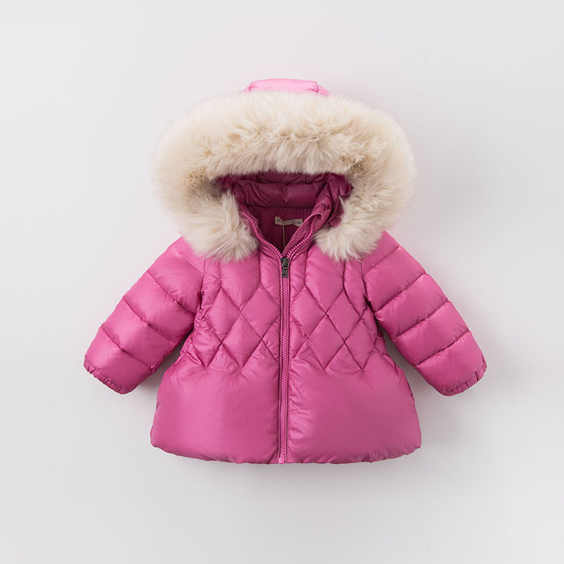 27d0d07e7ea4 DB5937 dave bella winter infant baby girls down jacket children white duck  down padding coat kids hooded outerwear