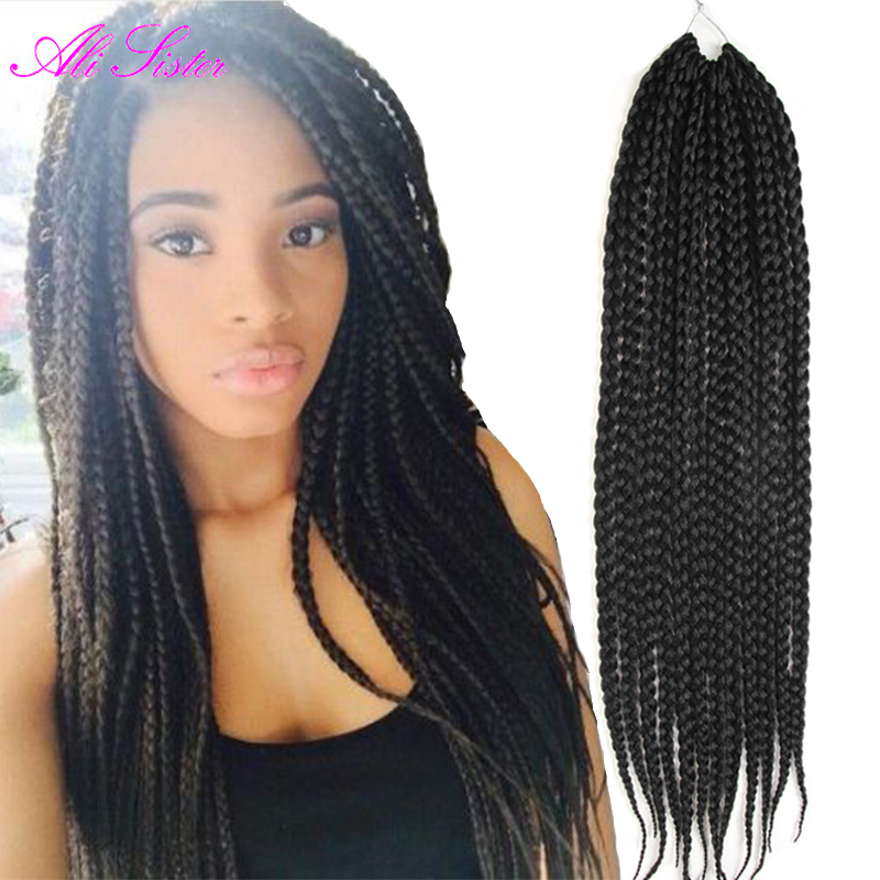 Color Box Braids Box Braids With Color In The Back