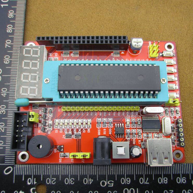 51 / AVR development board, including SCM / USB line, microcontroller minimum system board, including MCU