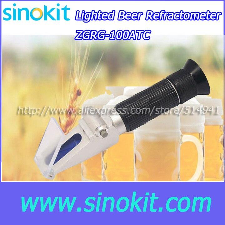 Wholesales Built-in LED light source Beer hand Refractometer -  ZGRG-100ATC