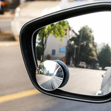 NEW Small Rearview Car Round Convex Blind Spot Mirror 360 Degrees Car Mirror Wide Angle Round Convex Blind Auto cheap HLEST 4 5cm 2019 ontology ABS eliminate blind spots 0 1cm