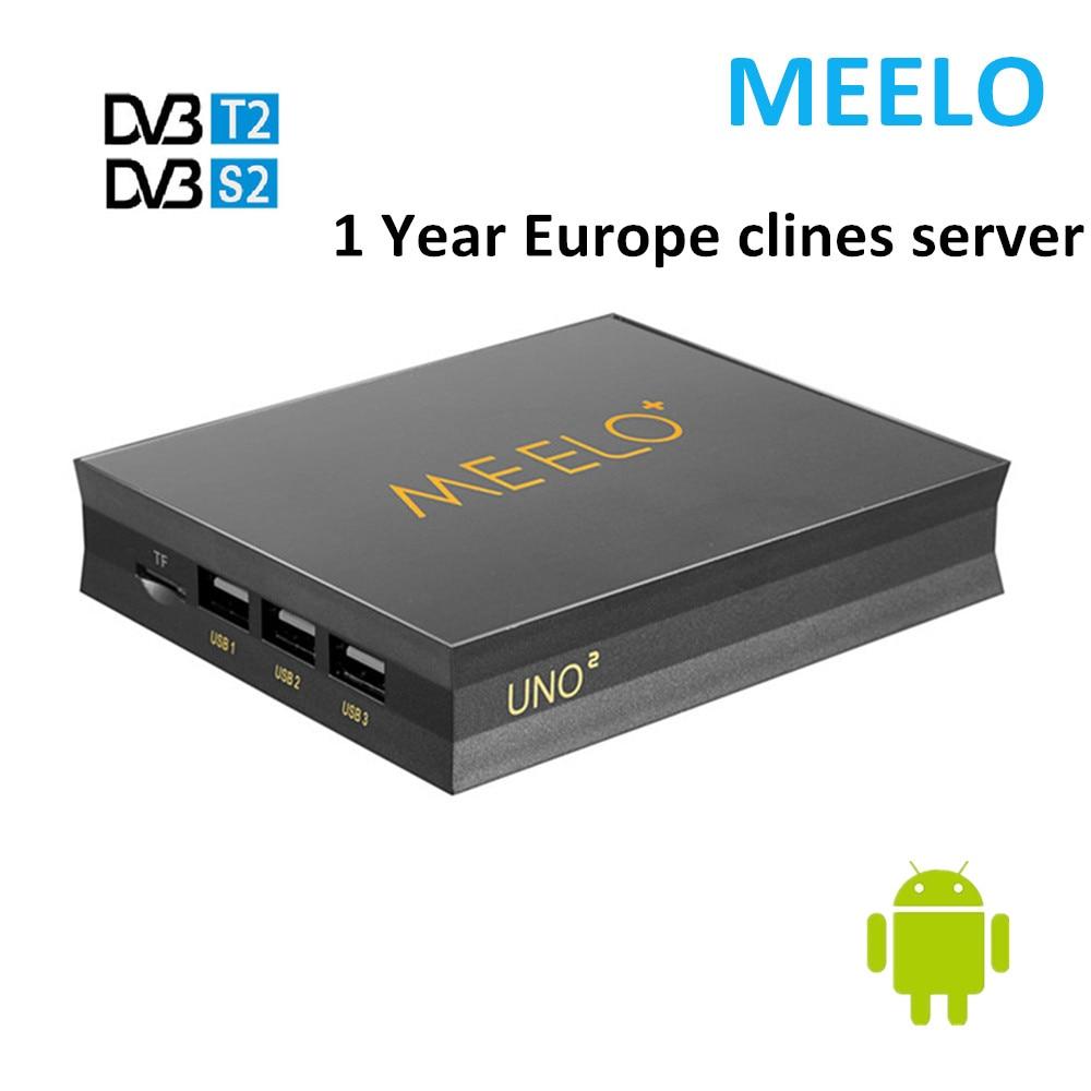 1PC Meelo uno2 1G/8G MEELO UNO 1GB 8GB Android 5.1.1 TV Box DVB-T2-S2 Amlogic S905 Quad Core 1080p 4K Support IPTV CCCAM