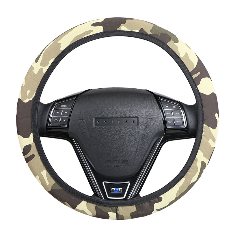 Military style car steering wheel cover universal braid on for Benetton 4 wheel steering