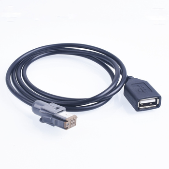 Car Aux Audio Input Media Data Wire Plug To USB Adapter Conector For Totota 4pin image