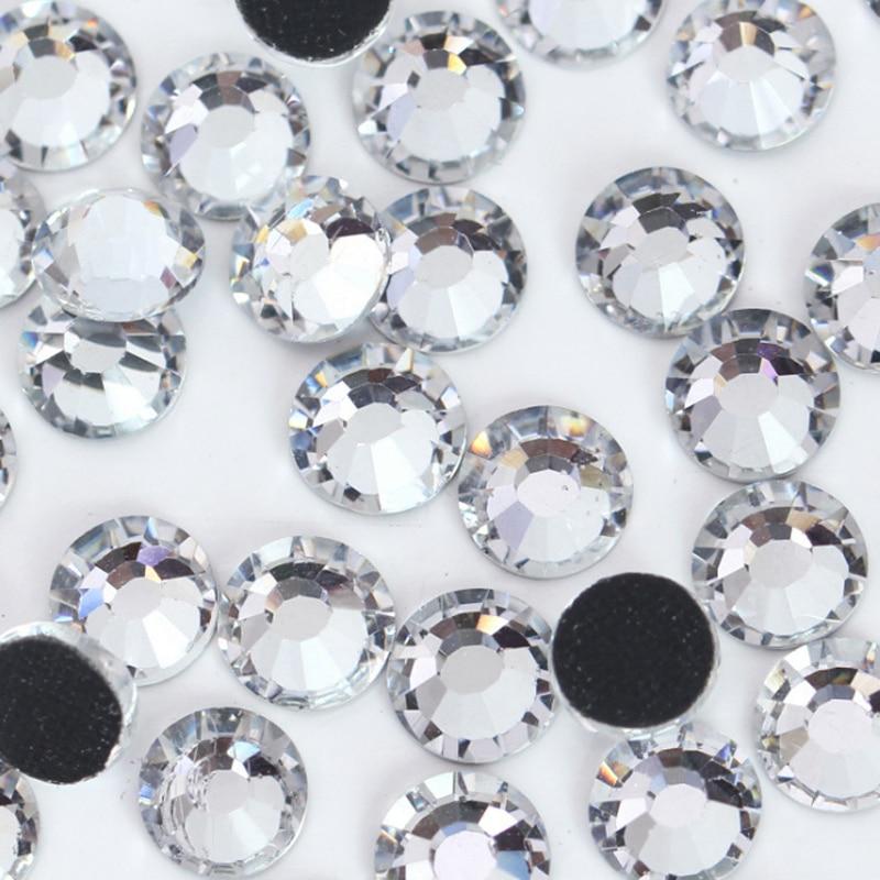 720pcs Quality ss16 Glass Hot Fix Flatback Strass Rhinestones Crystal Trims For Clothing Boots Bags Heat Transfer Hotfix
