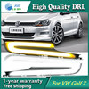 Free Shipping 12V 6000k LED DRL Daytime Running Light Case For VW Golf 7 2014 2015
