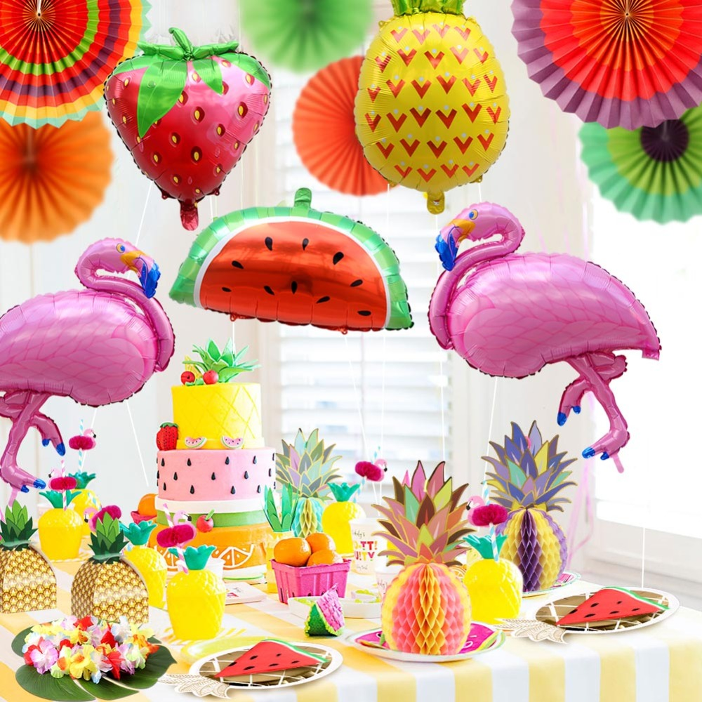 Decoration Anniversaire Hawaii Decoration Anniversaire Hawaii Guirlande à Fanions Hawaii Party
