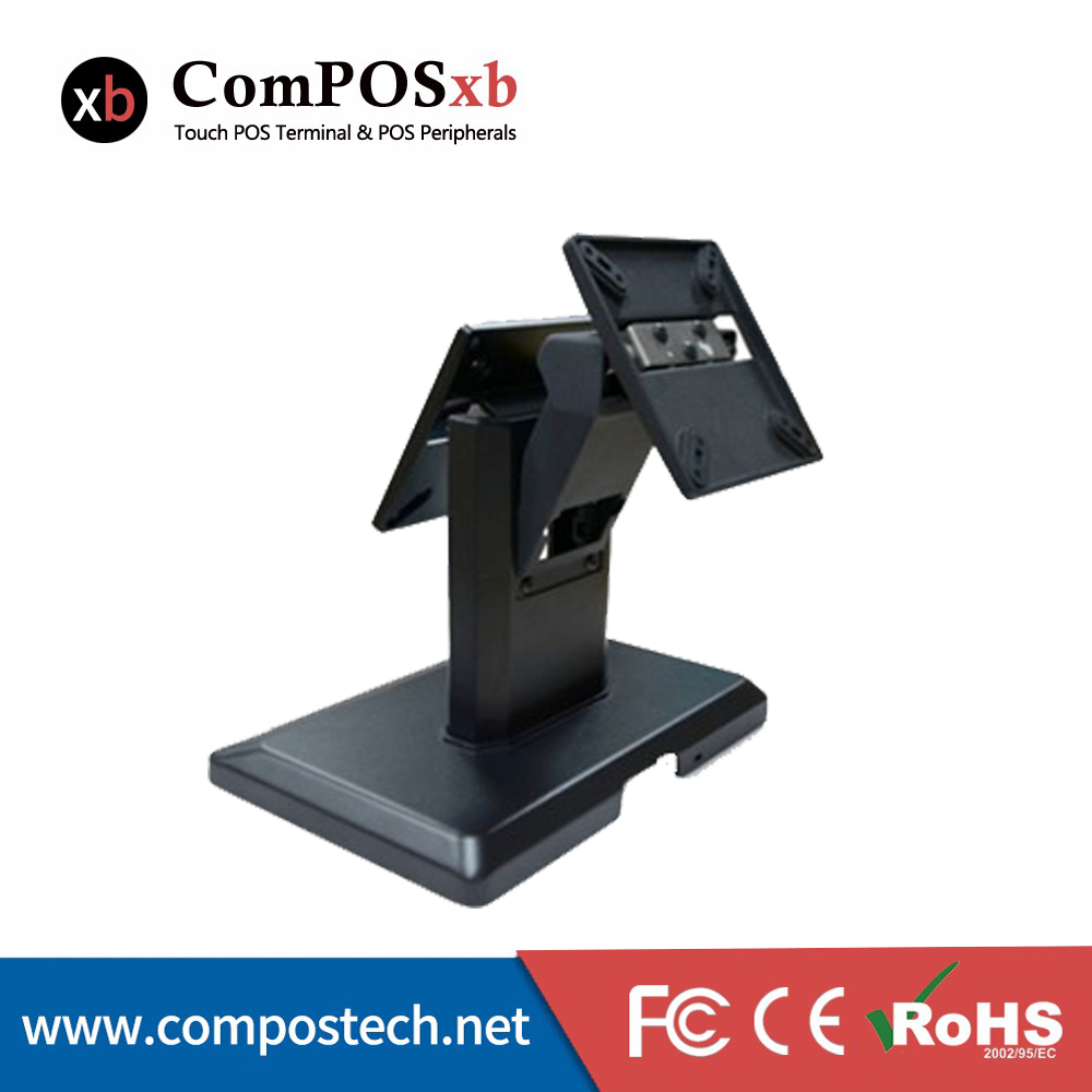 High Quality Monitor Stand Hold Dual Screens Mount Cheap Desktop Pos Lcd Display Stand desktop dual computer monitor mount stand vertical array for two screens fit for 10 30 max support 10kg per arm